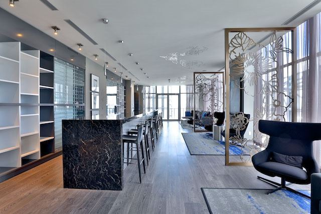 1080 Bay St Toronto U Condos Yorkville Lounge Party Room