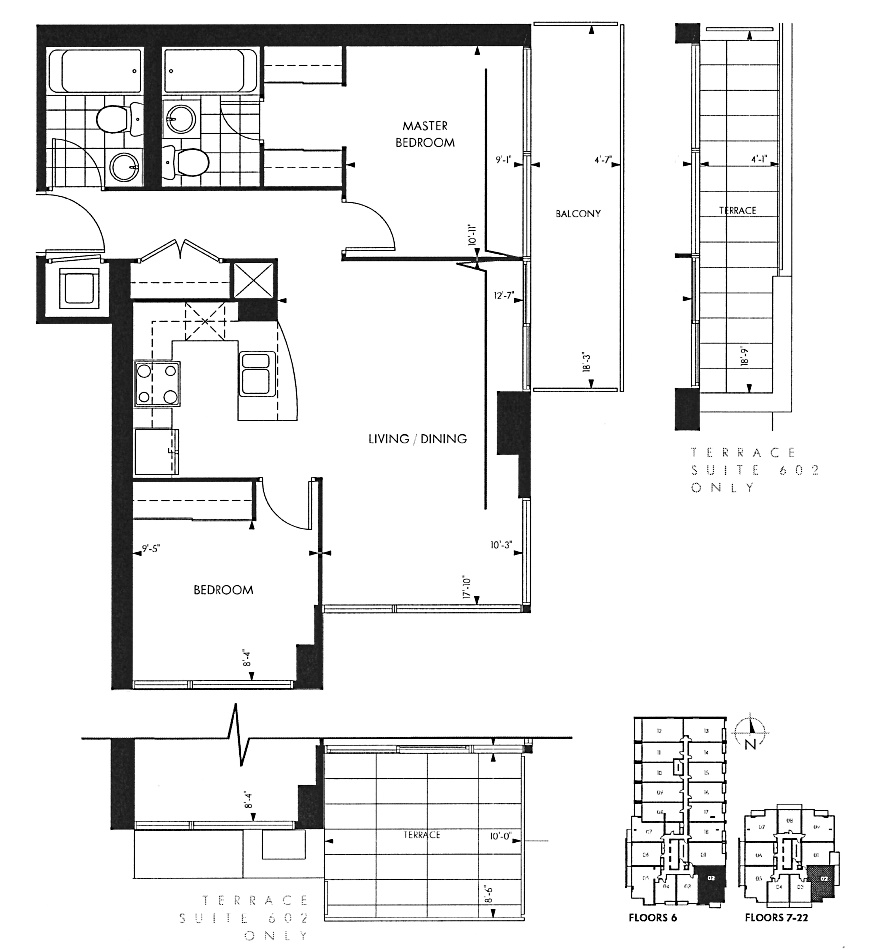18 Yorkville Ave Toronto Floor Plans Annex Condos 2 Bedrooms 732 Sq Ft Plus Balcony Yorkville A Layout