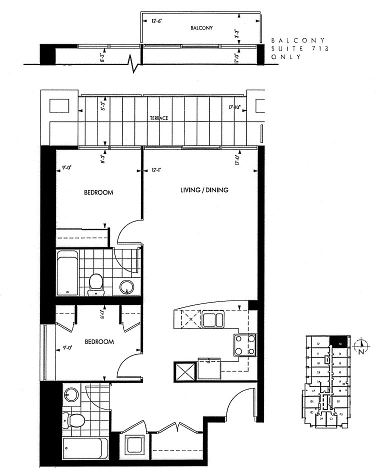 18 Yorkville Ave Toronto Floor Plans Annex Condos 2 Bedrooms 763 Sq Ft Plus Balcony Collier Layout