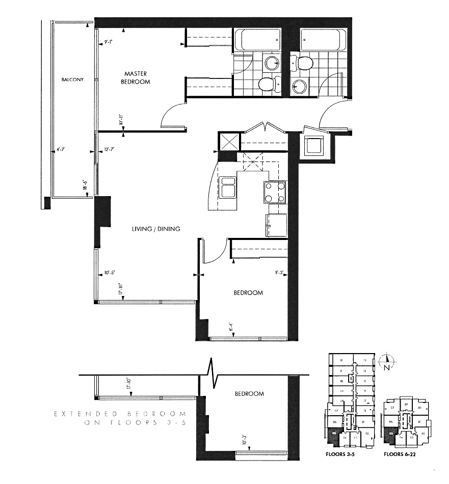 18 Yorkville Ave Toronto Floor Plans Annex Condos 2 Bedrooms Southwest Exposure 781 Sq Ft Plus Balcony Yorkville B Layout