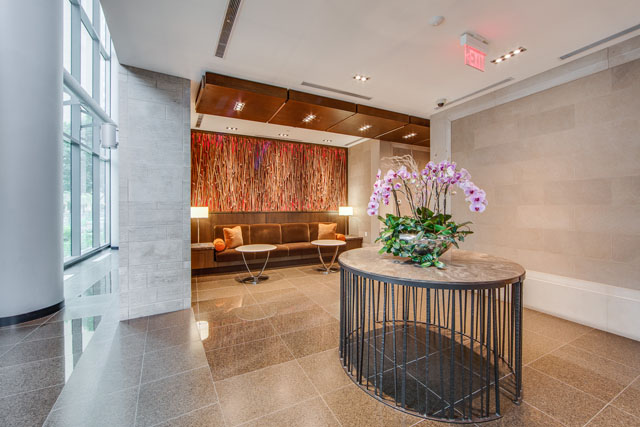 77 Charles St West Lobby Toronto Yorkville Luxury Condo Building Victoria Boscariol Chestnut Park Real Estate