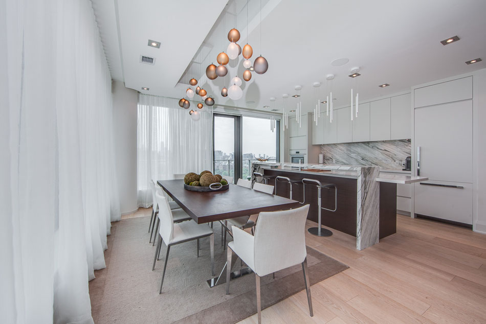 77 Charles St West Suite 1402 Dining Room Toronto Condos Yorkville Luxury