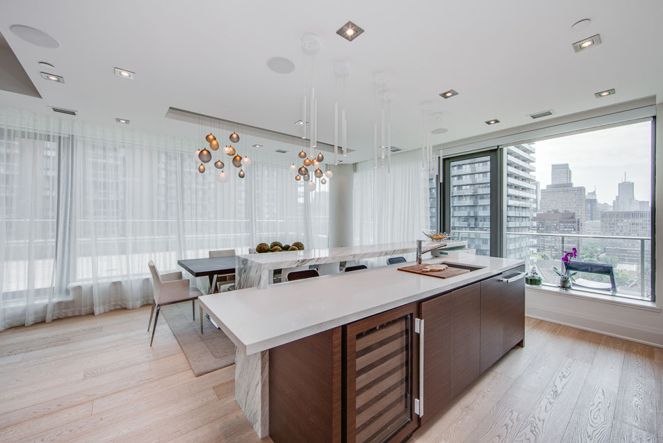 77 Charles St West Unit 1402 Toronto Yorkville Luxury Condos Kitchen Dining Room